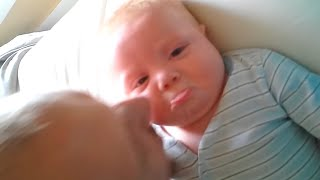 Funny Babies Cute Reaction to Parent Kisses | Cute Babies | Funny Videos