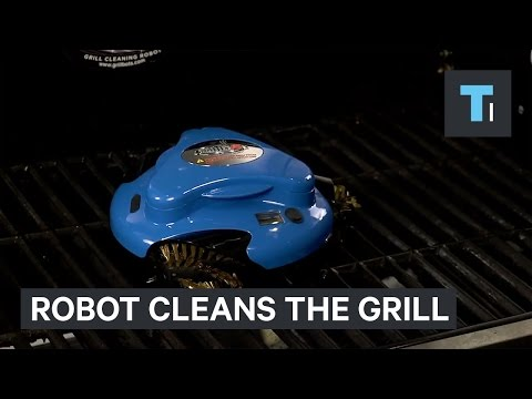 This robot is a Roomba for your grill