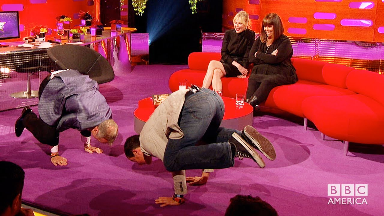 graham does crazy yoga with bear grylls the graham norton show on bbc america youtube. Black Bedroom Furniture Sets. Home Design Ideas