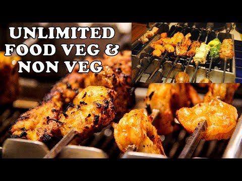 BARBEQUE NATION - UNLIMITED BUFFET IN  850/- RS  MORE THAN 50+ ITEMS