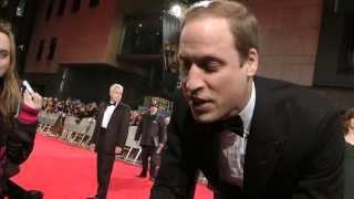 PRINCE WILLIAM EXCLUSIVE  AT BAFTA FILM AWARDS 2014 LONDON