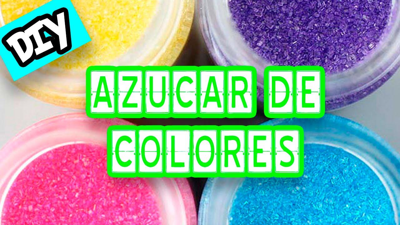 Cómo teñir azúcar para decoración de tartas y cupcakes - YouTube