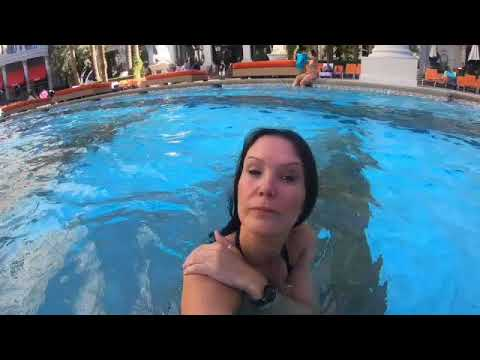 Caesars palace Las Vegas Swimming Pool Walk and Swim