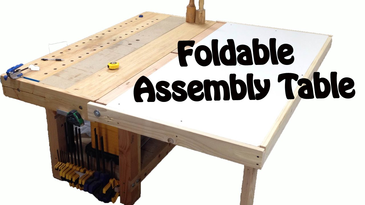 Make A Foldable Assembly Table Diy Build Youtube