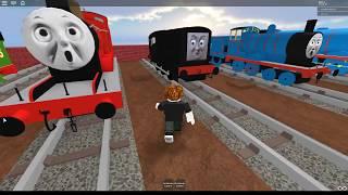 Thomas e amigos-James Roblox trem Crash
