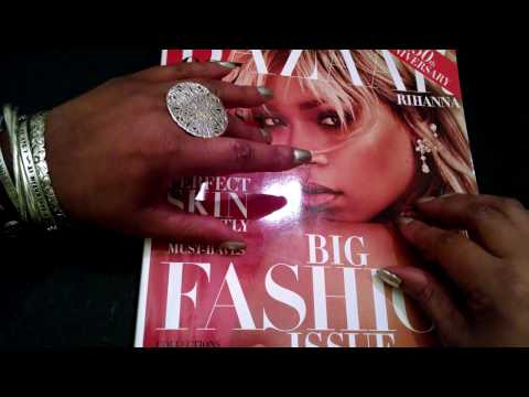 ASMR Requested Harper's Bazaar March 2017 (Rihanna cover) whisper, gum chewing