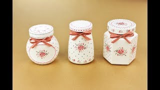 Painted jars - Decoupage jars - Decoupage Tutorial - Decoupage for beginners