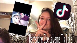Recreating Zoe LaVern's TikTok's
