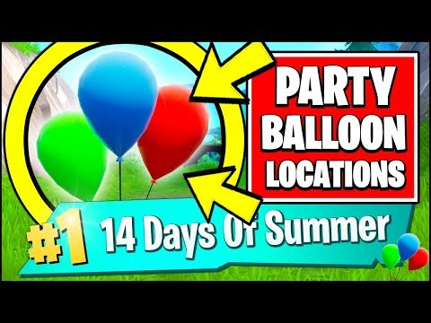 POP PARTY BALLOON DECORATIONS *ALL LOCATIONS* (Fortnite 14 Days Of Summer Day 5 FREE REWARDS)