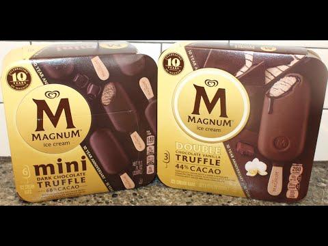 Magnum Ice Cream: Mini Dark Chocolate Truffle & Double Chocolate Vanilla Truffle Review