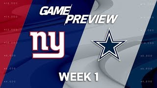 New York Giants vs. Dallas Cowboys | Week 1 Game Preview | Move the Sticks
