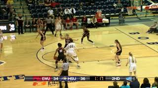 WBB Highlights at Montana State 2/17/18