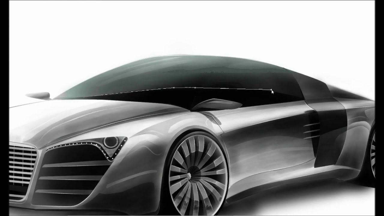 Car Rendering 2 - Photoshop - Audi R10 [ASayedDesign] - YouTube