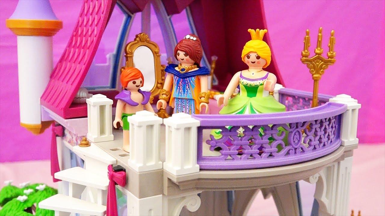 Juguetes de Playmobil en español - Castillo de princesas y piscina ...