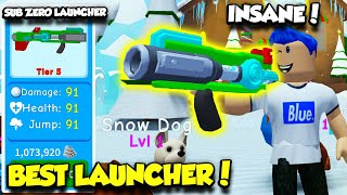 I Got The MOST OVERPOWERED SNOWBALL LAUNCHER In Snowman Simulator And DEFEATED ALL BOSSES! (Roblox)