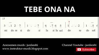 Gambar cover not angka tebe onana - not angka lagu tradisional