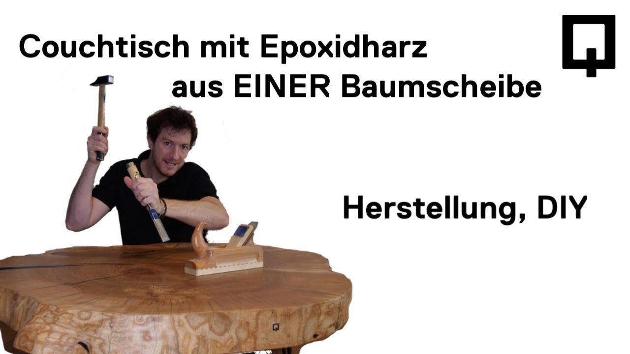Couchtisch Tisch Mit Epoxidharz Selber Bauen Aus Einer Riesen
