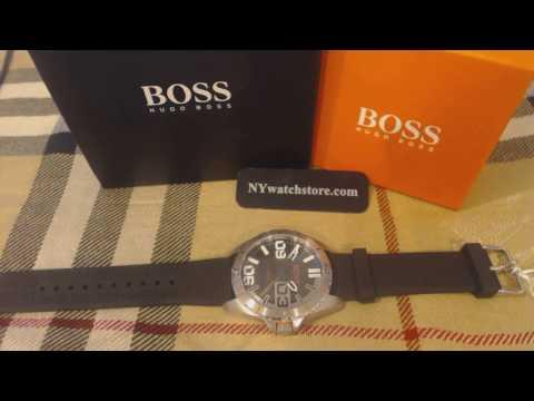 Men's Hugo Boss Orange Berlin Black Silicone Strap Watch 1513285