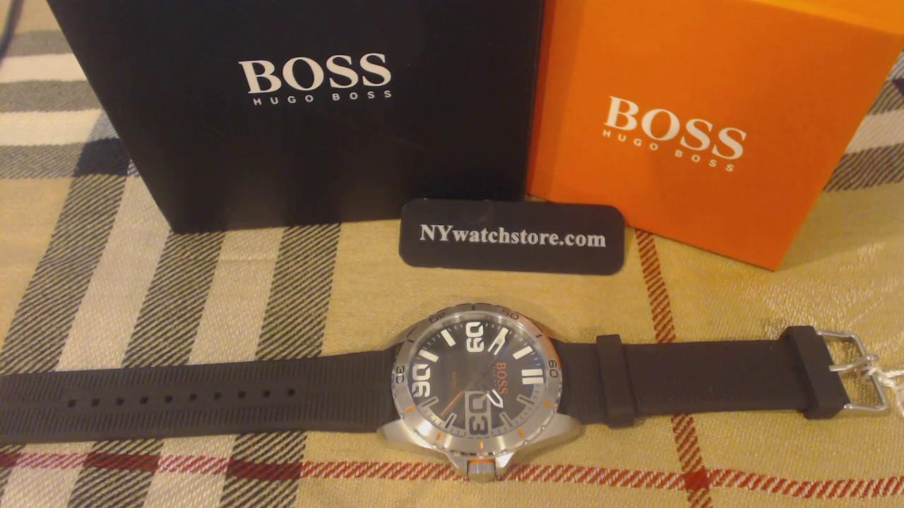 5b27f8cb5b5d Men s Hugo Boss Orange Berlin Black Silicone Strap Watch 1513285 ...