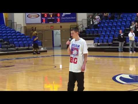 National Anthem by Forrest Millsap at Heroes-Hoops-Hope Charity Basketball Game