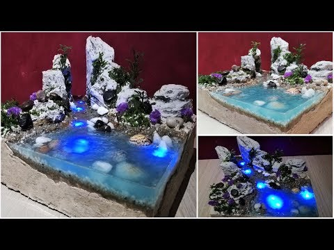 DIY Realistic diorama with lightened water