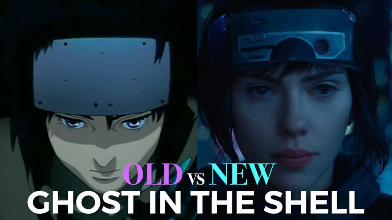 Ghost In The Shell Trailer Anime Vs Live Action Youtube