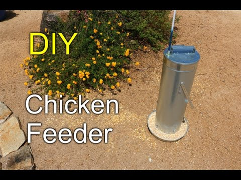 DIY Chicken feeder - How to with HVAC duct pipe