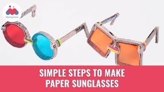 How To Make Paper Sunglasses | Origami Glasses | Summer Activities For Kids | DIY Craft | Momspresso
