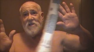 angry grandpa gets bitten by a snake prank