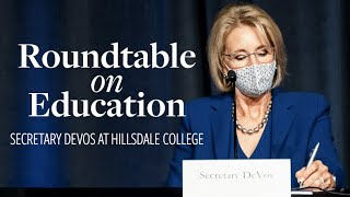 Secretary DeVos Round Table Discussion on Education