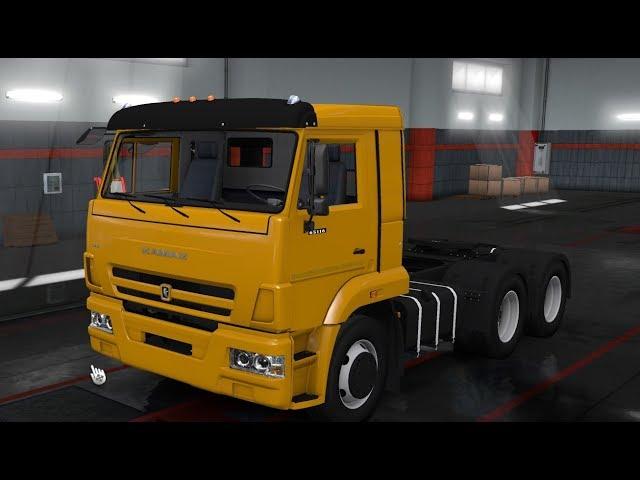 Euro Truck Simulator 2. Тест драйв Камаза.  Чат+