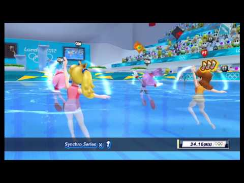 Mario & Sonic at the London 2012 Olympic Games: Synchronised Swimming [1080 HD]