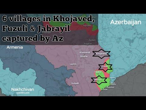 Azerbaijan takes 6 new villages of Khojavend, Fuzuli & Jabrayil