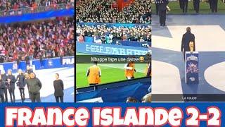 France Islande 2-2 ambiance stade Guingamp Roudourou et danse Mbappé