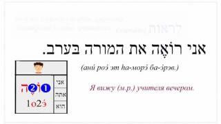Урок № 83  Слабые глаголы настоящего времении в лёгком биньяне языка иврит 1