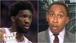 Stephen A. reacts to Joel Embiid saying he's 'not a big fan' of the NBA's bubble plan | First Take