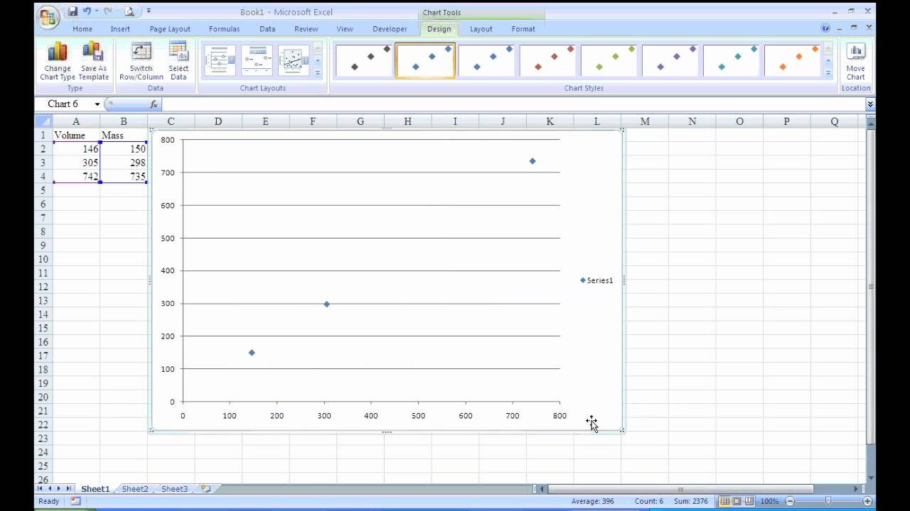 how to use excel to make a scatter plot