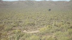 Helicopter Flies Right Over Our Heads in Picacho Mountains, Arizona