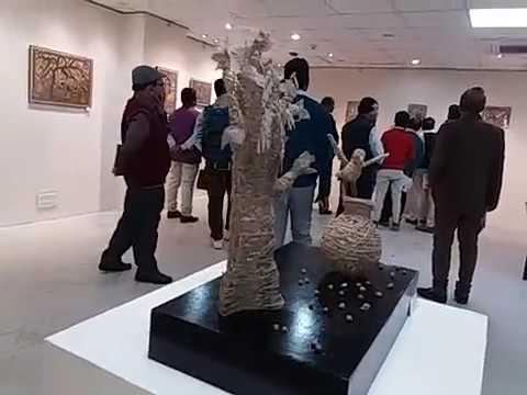 Krishna Kr Rishi inaugurated Folk Art Exhibition young group