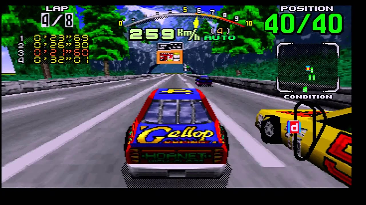 daytona usa saturn 1080p 60 fps via rgb scart converted to hdmi youtube. Black Bedroom Furniture Sets. Home Design Ideas