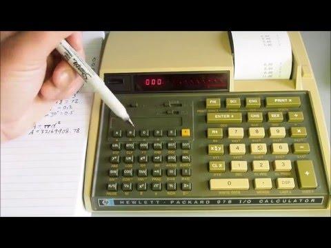 Hewlett Packard 97 S I/O Calculator Part 1