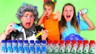 Don't Choose the Wrong Baby Milk Slime Challenge! Ruby Rube vs Granny