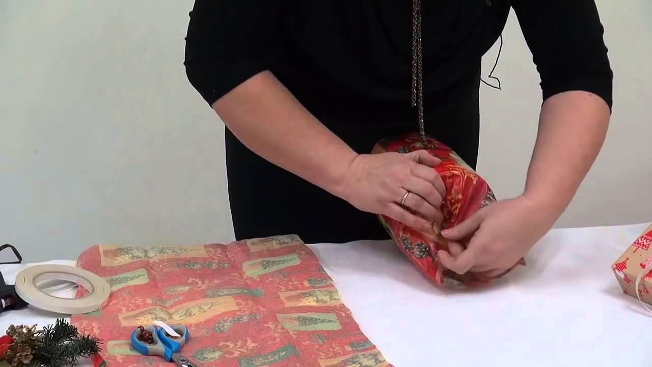 Упаковка круглой коробки. Новогодняя упаковка подарков Ч.5