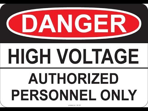 DANGER HIGH VOLTAGE - MILES HIVOLT HIPOT TESTER