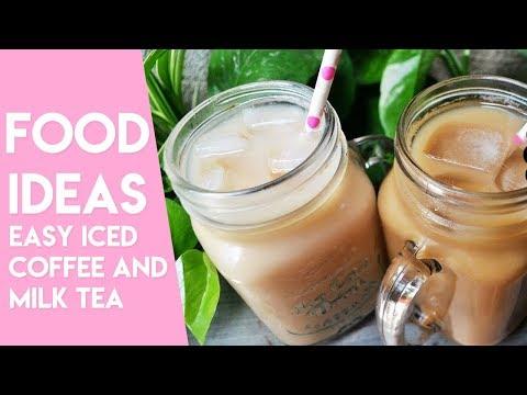EASY ICED COFFEE AND MILK TEA | Easy Drink Ideas