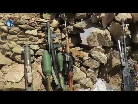 فيديو: الجيش الوطني يٌغنم اسلحة متنوعة للأنقلابيين بجبهة هيلان صرواح