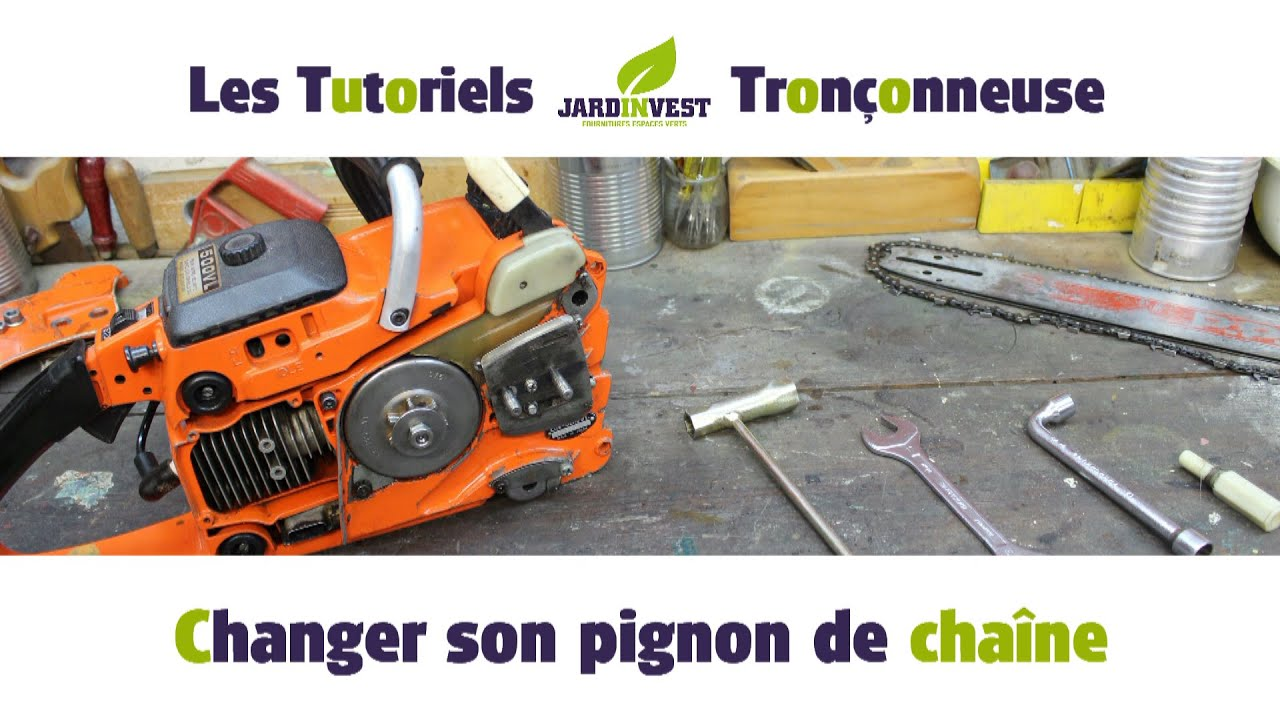 tutoriel tron onneuse n 6 changer le pignon d 39 entrainement de cha ne tronconneuse youtube. Black Bedroom Furniture Sets. Home Design Ideas