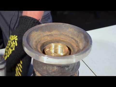 Реконструкция или реставрация опорного катка для мини экскаватора