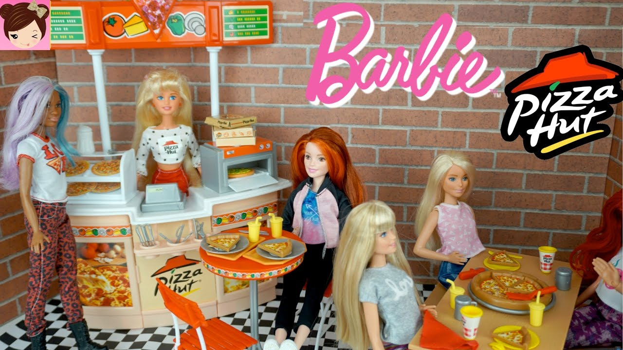 Barbie Pizza Hut Restaurant Playset Playing With Dolls Toys - Childrens birthday parties pizza hut