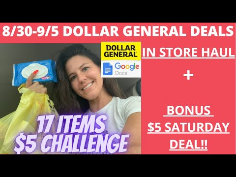 💃8/30-9/5 Dollar General Deals You Can Do NOW   Dollar General Best Deals   $5 CHALLENGE & FREEBIES